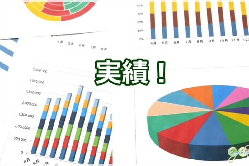 実績を表すグラフ